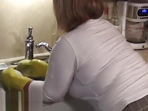 Youthful bbw wife rips stockings