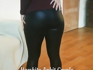 Legendary Harshita in leather sundress showing her sexiest ass