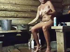 Lengthy Legged Country Girl In Her Bathhouse