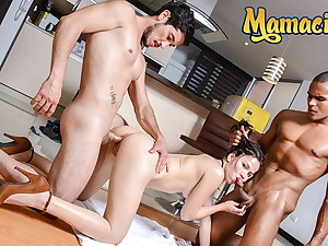 MAMACITAZ - Sexy Latina Melina Flor Takes Cock In Crazy Threesome