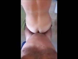 wife loves to witness herself in a mirror while getting plumbed