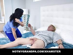 Exotic Nurse Gabriela Lopez Lets Patient Cum On Her Big Tits