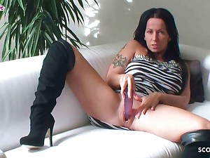 German Dirty Talk Joi with Big Orbs Cougar Katie Pear gags