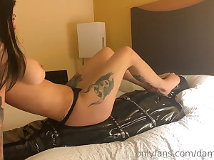 Bound female domination foot smother